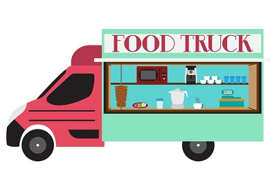 illustration-of-food-truck-in-vector